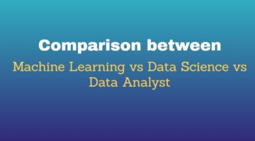 Comparison between Machine Learning vs Data Science vs Data Analyst